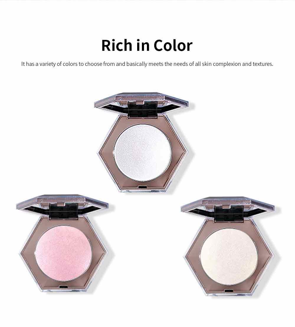 Superior Highlighting Powder, Popular Bright Makeup Powder Stereoscopic Facial Long-Lasting Powder Disc With Mirror 7
