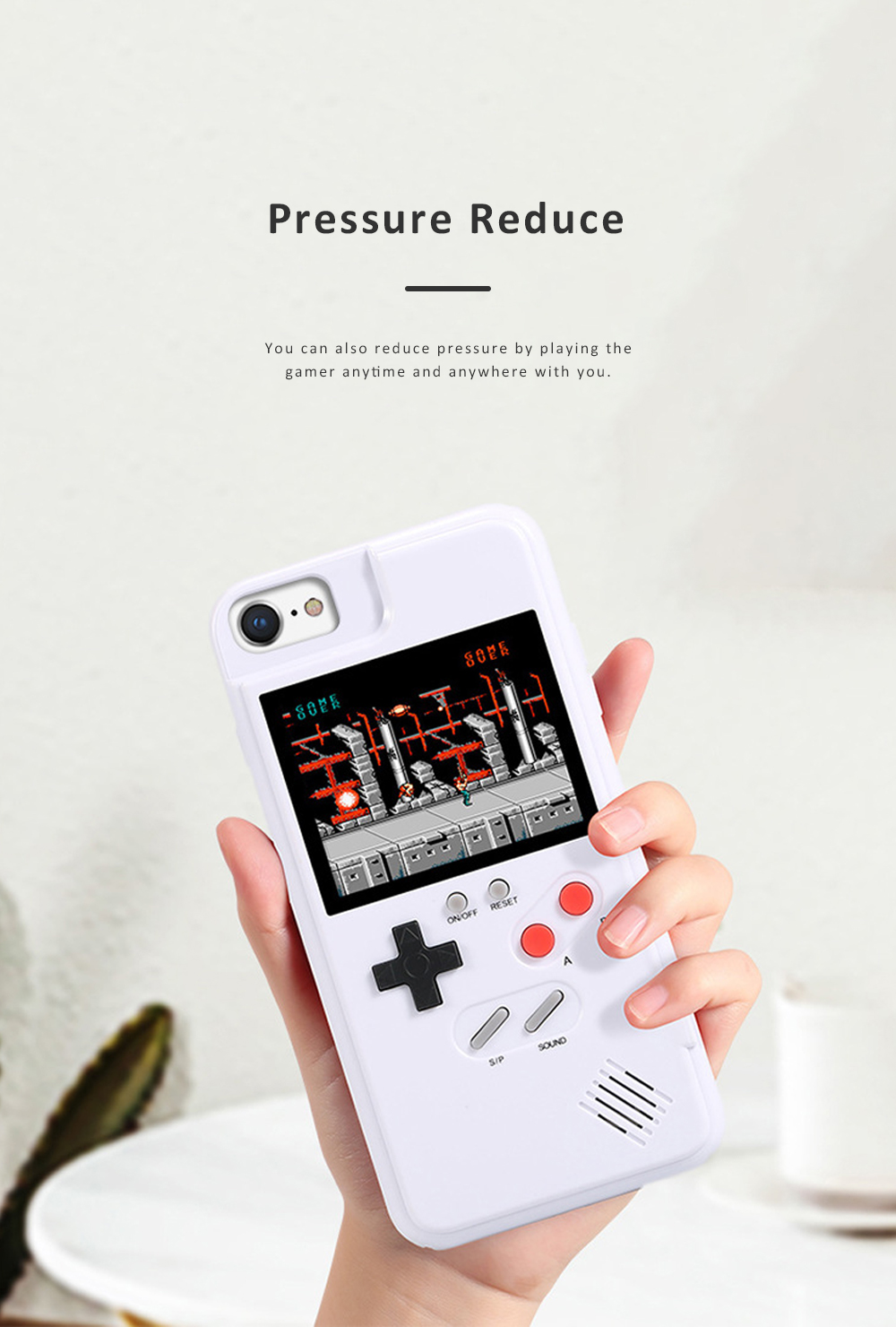 Gamer Phone Case Color Screen Game Consoles Phone Protection Cover for iPhone 6 7 8 X XS OPPO VIVO HUAWEI P30 P20 Pressure Reducer Phone Shell Game Machine 5