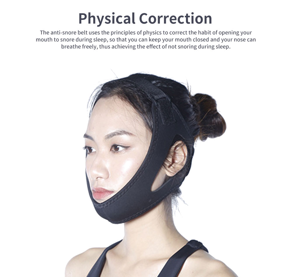 Anti-snore Belt Stop Snoring Soft Chin Strap Jaw Support Anti Apnea Adjustable Solution Sleeping Device Aid Tools 3