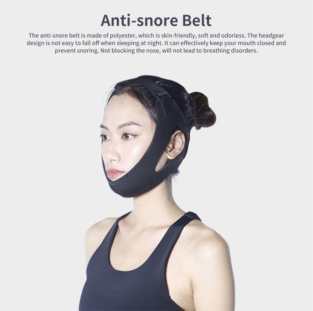 Anti-snore Belt Stop Snoring Soft Chin Strap Jaw Support Anti Apnea Adjustable Solution Sleeping Device Aid Tools 0