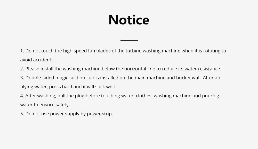 Travel Ultrasonic Turbine Washing Machine Cleaner High Efficiency Portable Washing Device 10