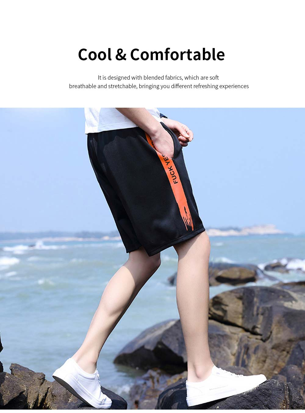 Men's Sports Style Shorts Students' Five-Point Shorts New Fashion Simple & leisure Pants For Summer 5