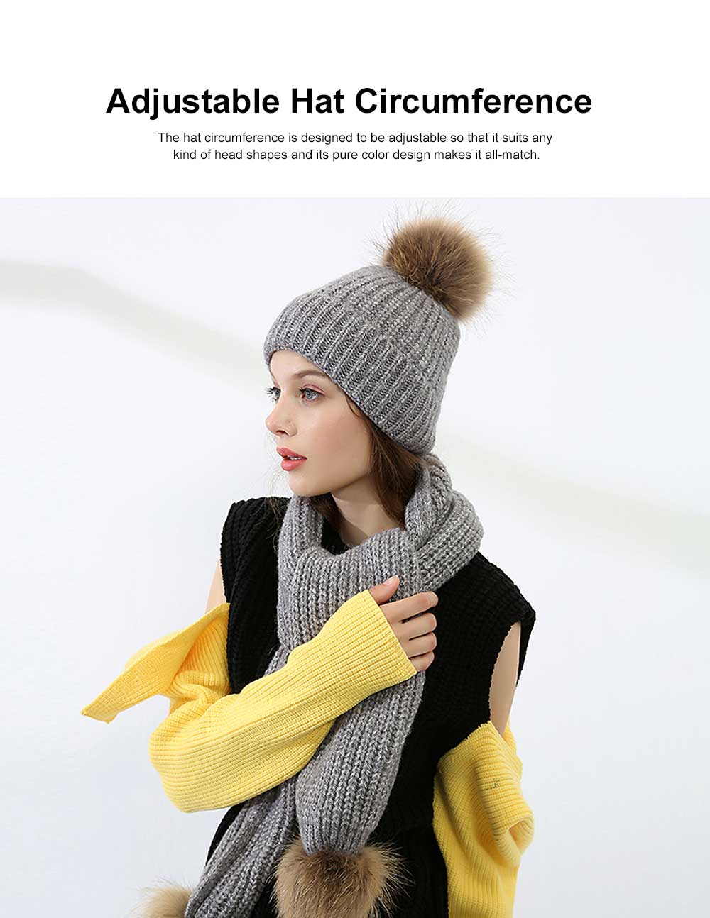 Thickened Two-piece Set Winter Hat Scarf for Lady Autumn Winter Thermal Knitted Twinset for Student Outdoor Use Knitted Thermal Products 3