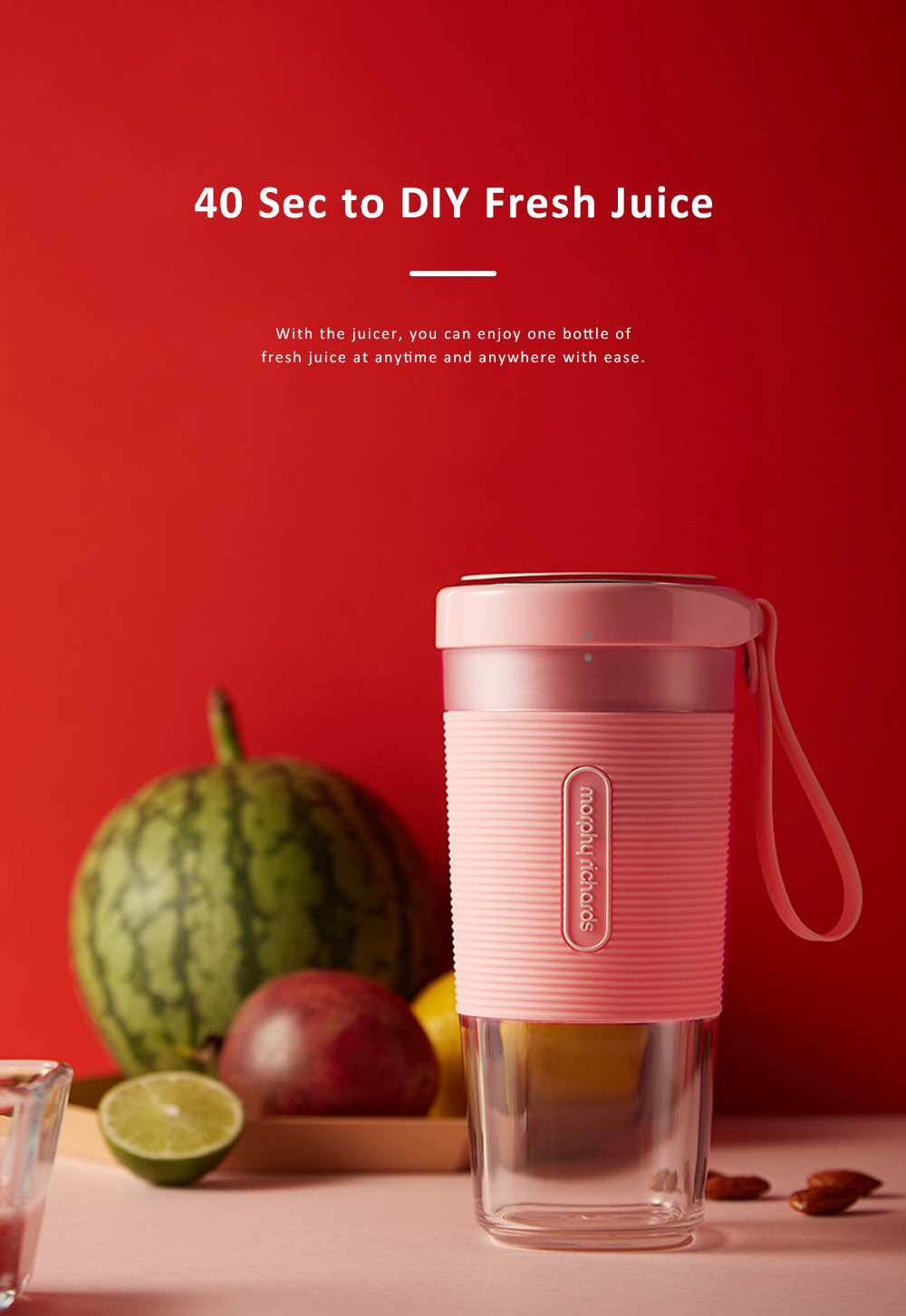 Portable Juicer Household Fruit Juice Cup Mini Electronic Fruit Mixer Juice Maker Food Processor 7