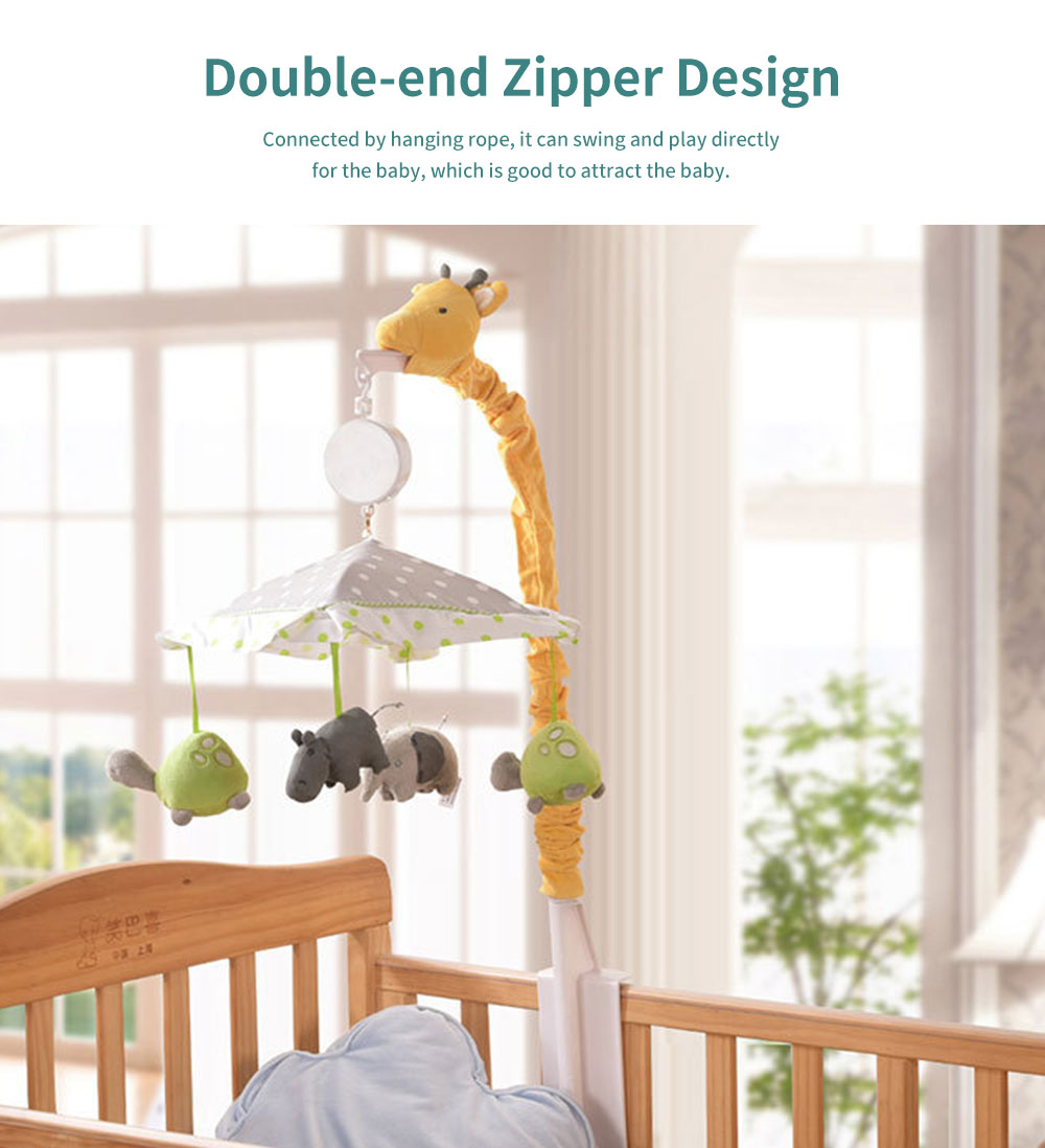 Giraffe Music Bed Bell Bedside Toys Flannel PP Material Cartoon Modeling Giraffe Pendant Healthy for Baby Rattles Soft Baby Mobiles 4