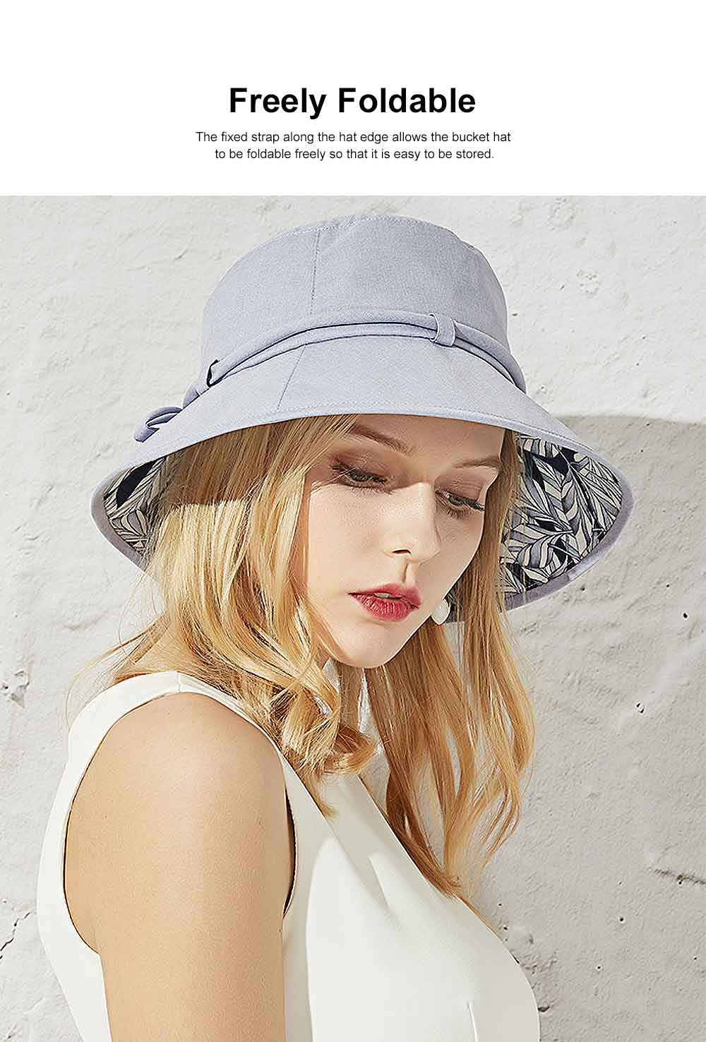 Outdoor Foldable Windproof Sunbonnet for Travelling Casual Sunhat for Lady Summer All-match Sun Helmet for Women Sunblock Bucket Hat 2