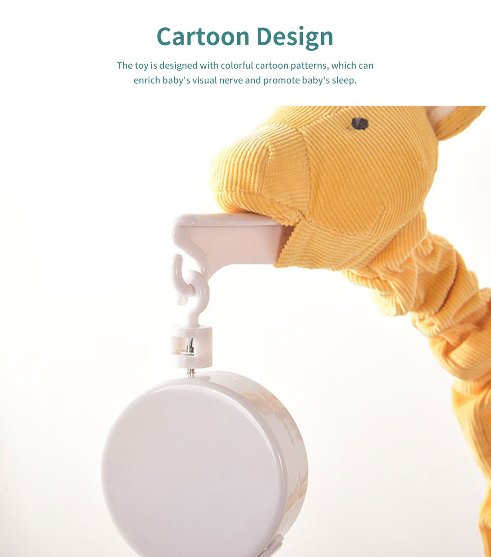 Giraffe Music Bed Bell Bedside Toys Flannel PP Material Cartoon Modeling Giraffe Pendant Healthy for Baby Rattles Soft Baby Mobiles 2