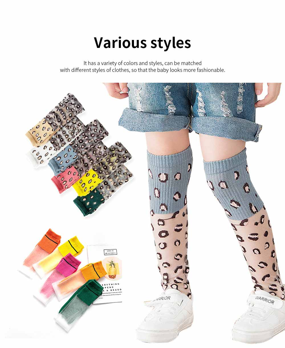 Children's Trendy Medium Length Socks Korean Style Thin Glass Silk Alphabet Printed Socks For Summer 4