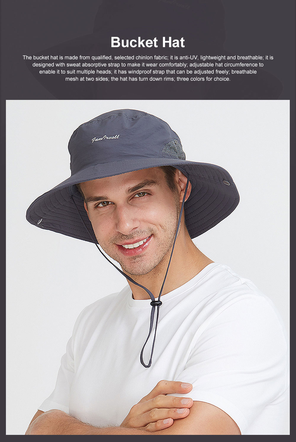 Sunscreen Foldable Bucket Hat for Men Summer Korean Style Sunhat for Outdoor Activities Casual Anti-UV Male Hat for Climbing Bucket Hat 0