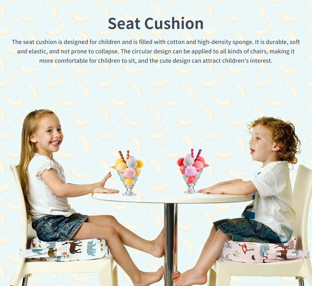 Seat Cushion Cotton Material Round Shape Seat-worm Soft Saddle Elastics for Kids with Banding Seating Washer 0