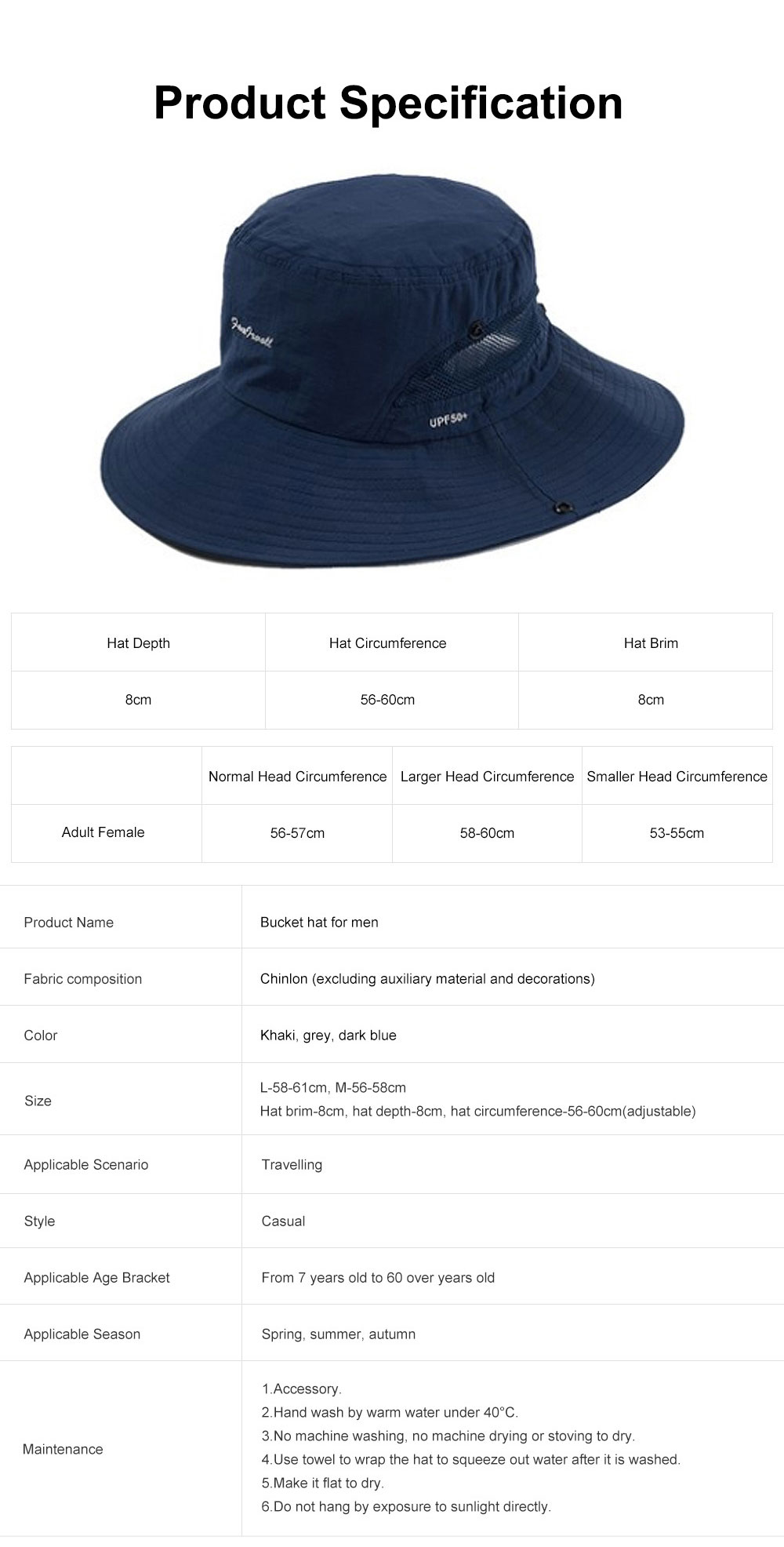Sunscreen Foldable Bucket Hat for Men Summer Korean Style Sunhat for Outdoor Activities Casual Anti-UV Male Hat for Climbing Bucket Hat 8