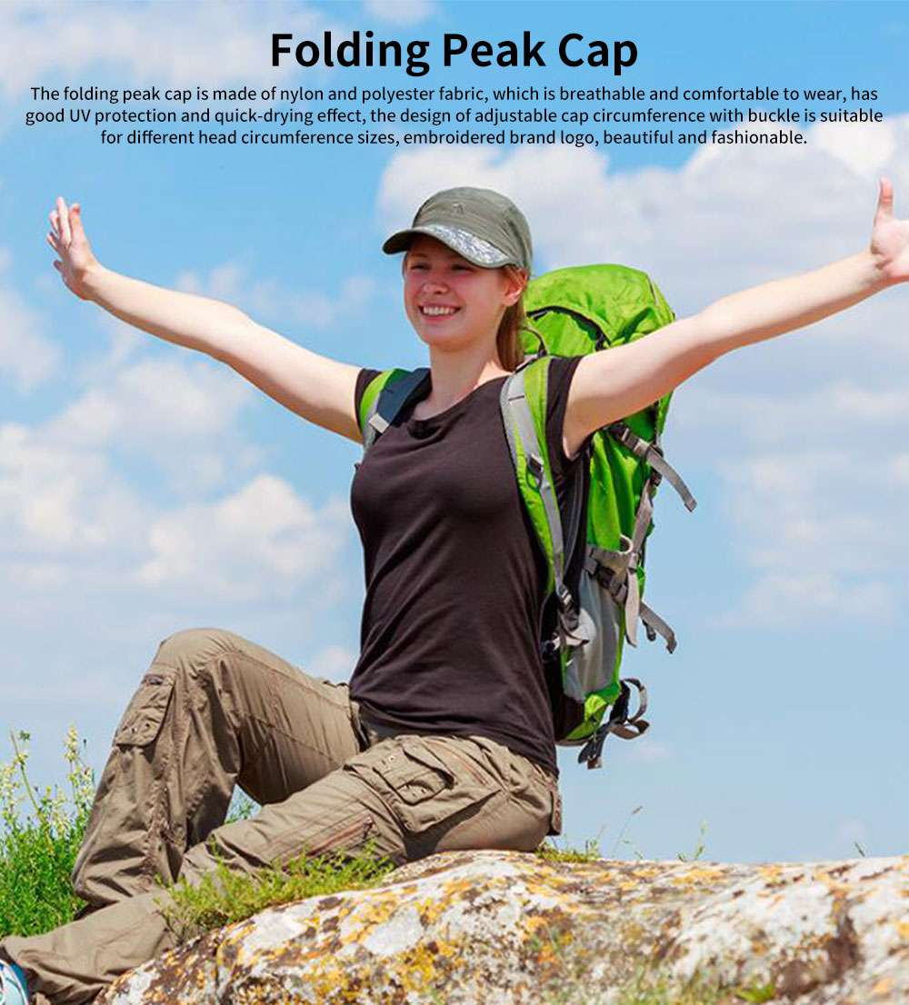 Summer Folding Peak Cap Unisex UV Protection Breathable Quick-dry Travel Sport Outdoor Baseball Hat 0