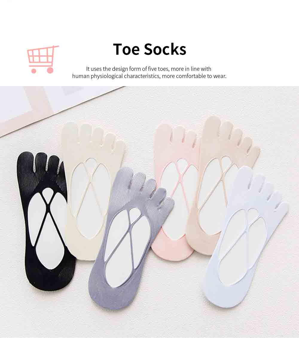 Girls Mesh Toe Socks with Hollowing out Nylon, Ventilation Overlapping Boat Socks for Spring & Summer 3
