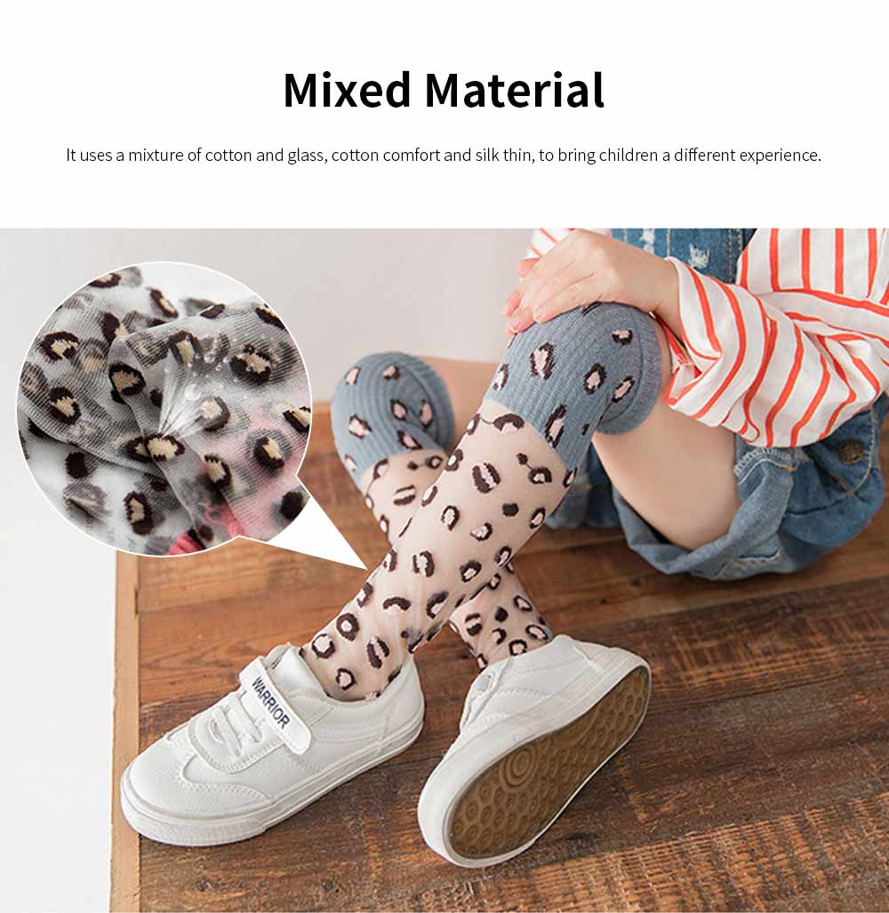 Children's Trendy Medium Length Socks Korean Style Thin Glass Silk Alphabet Printed Socks For Summer 2