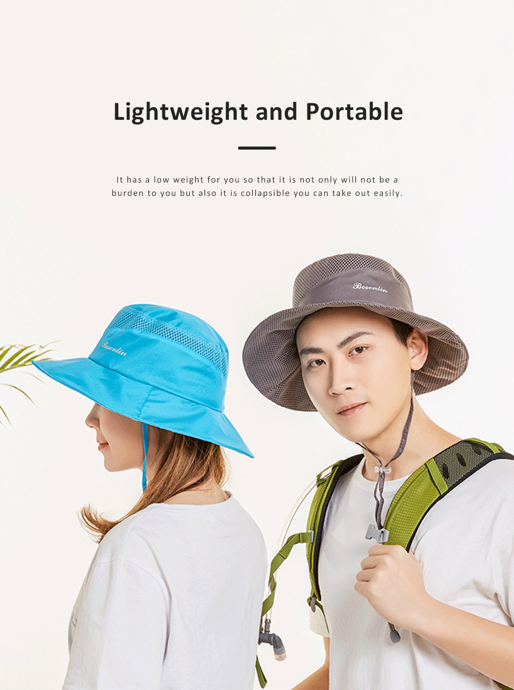 Outdoor Sunhat for Outdoor Enthusiast, Colorful Option Flat Brim Fisherman Hat, Wind Rope Buckle Quick Drying Flat Brim Cap 6