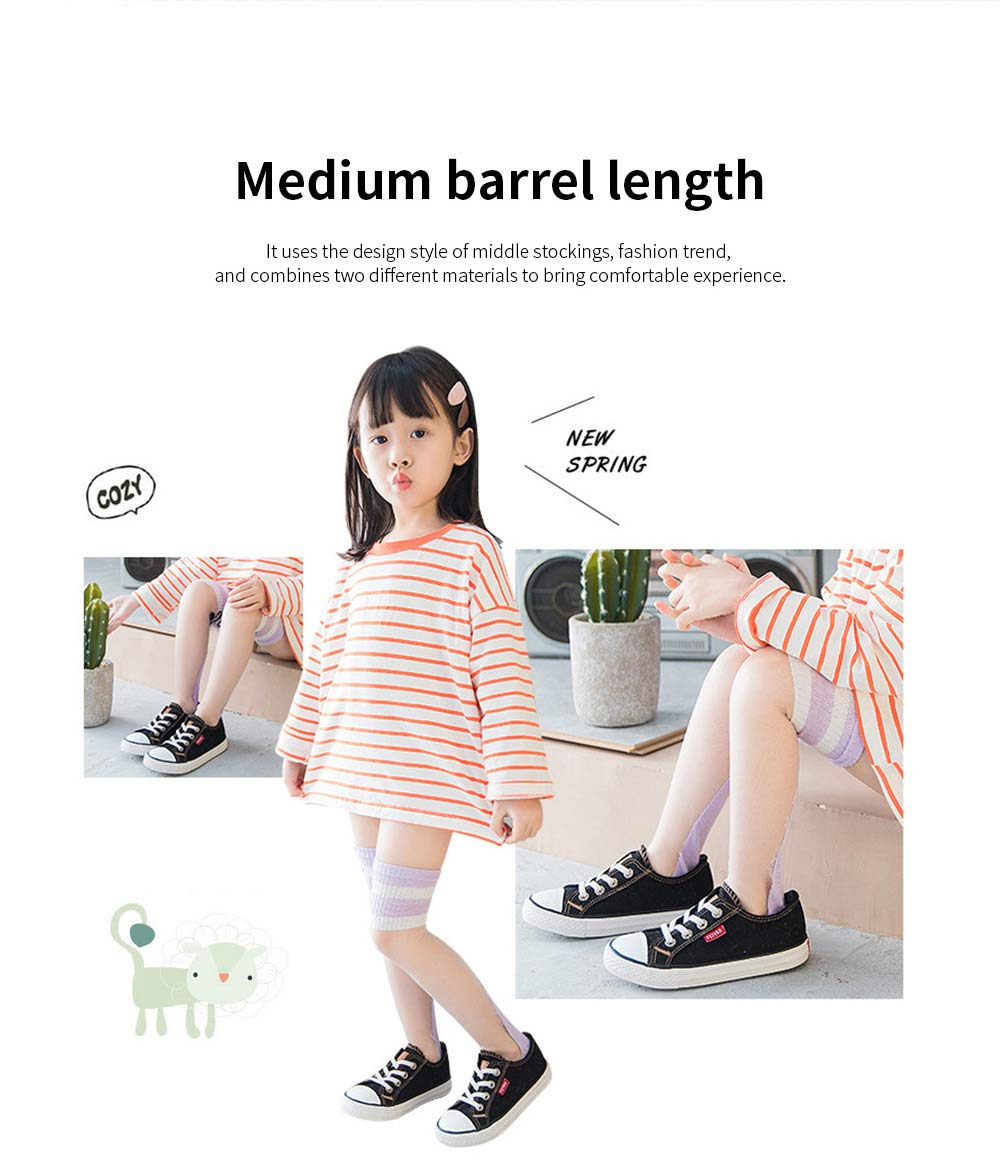 Children's Trendy Medium Length Socks Korean Style Thin Glass Silk Alphabet Printed Socks For Summer 3