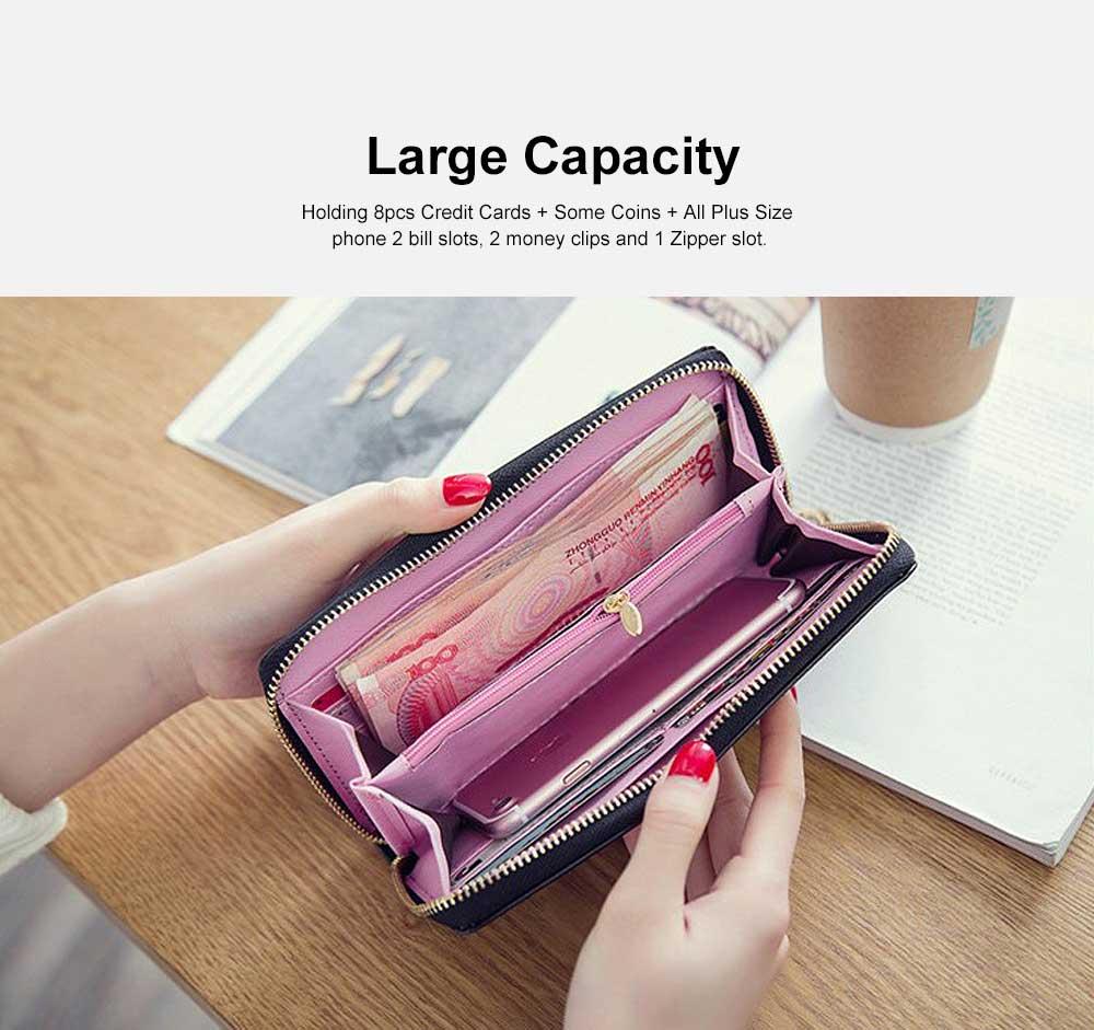 Women Purse Vintage lozenge Ladies PU Leather Wallets Women Fashion Accessories  Long Travel Purse Clutch 4
