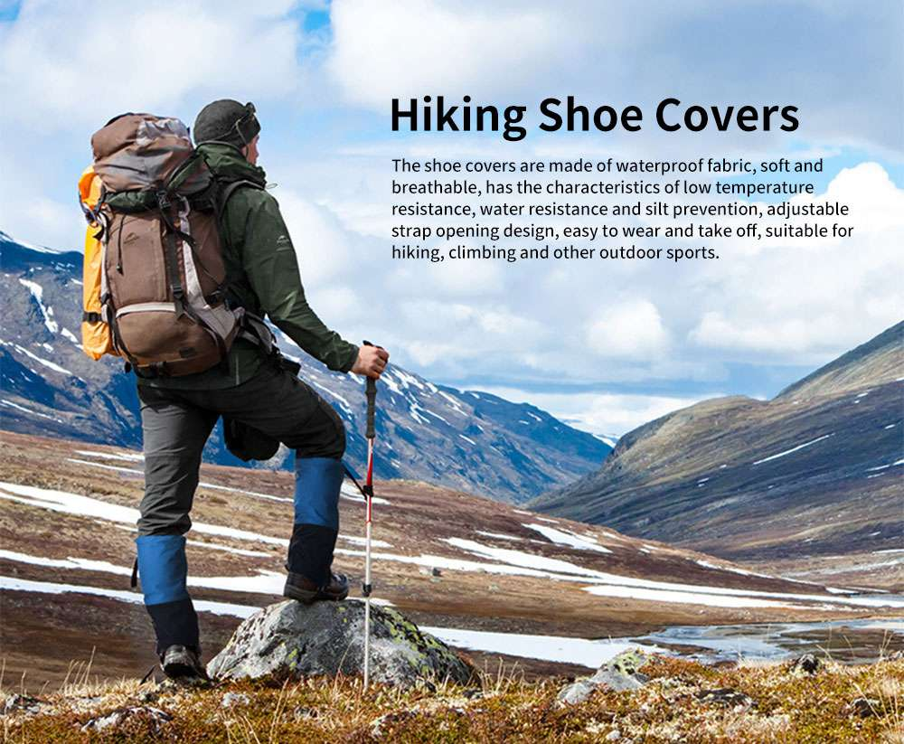 Naturehike Outdoor Hiking Shoe Covers Waterproof Low Temperature Resistant for Climbing Desert Snow Leg Protector 0