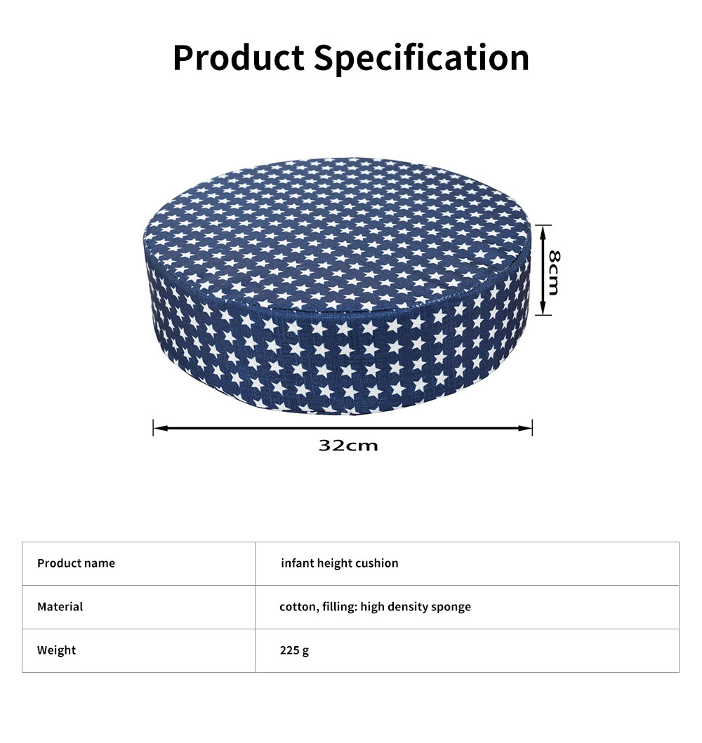 Seat Cushion Cotton Material Round Shape Seat-worm Soft Saddle Elastics for Kids with Banding Seating Washer 5