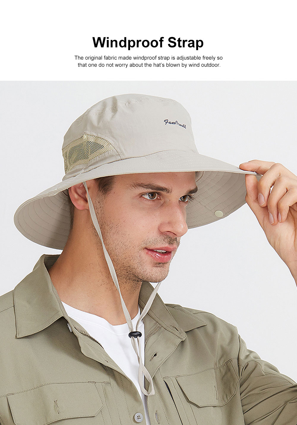 Sunscreen Foldable Bucket Hat for Men Summer Korean Style Sunhat for Outdoor Activities Casual Anti-UV Male Hat for Climbing Bucket Hat 3