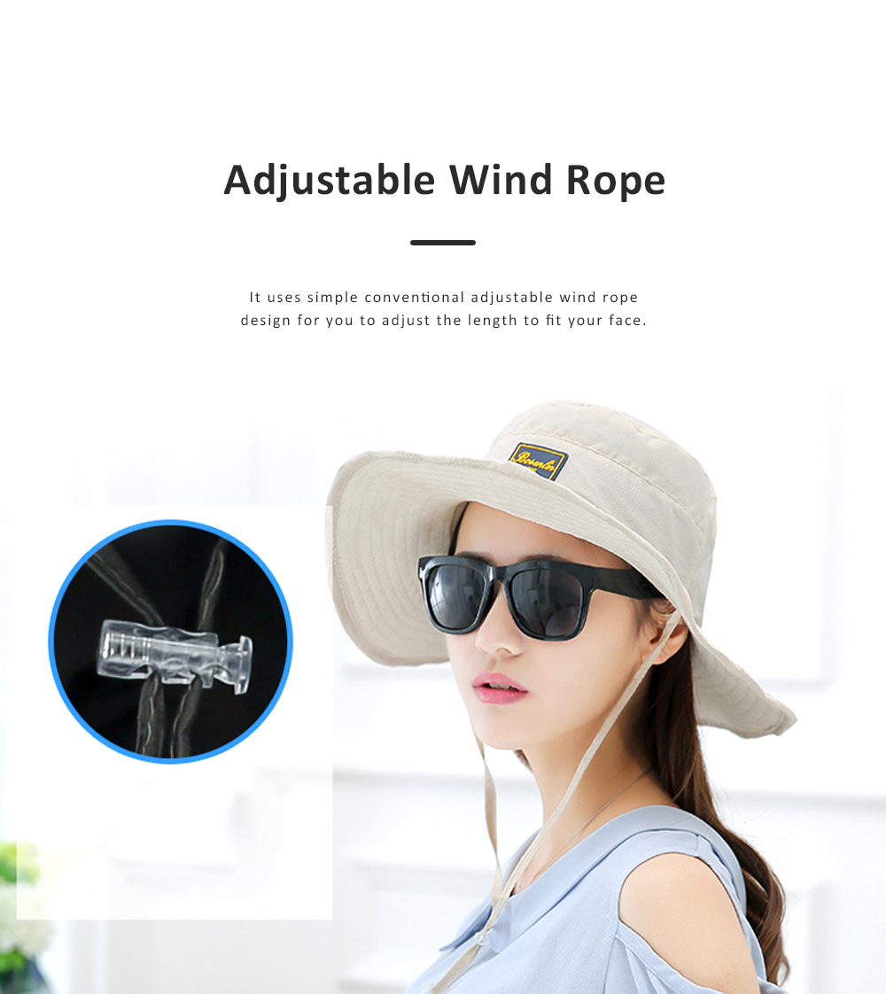 Unisex Sunscreen Hat for Outdoor Enthusiast, Mesh Breathable Mask Brand Logo Alpine Cap For Men Women Wide Brim Adjustable Wind Rope Outdoor Appliances 3