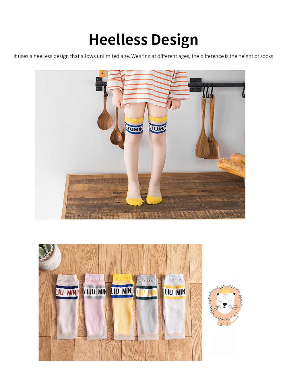 Children's Trendy Medium Length Socks Korean Style Thin Glass Silk Alphabet Printed Socks For Summer 1
