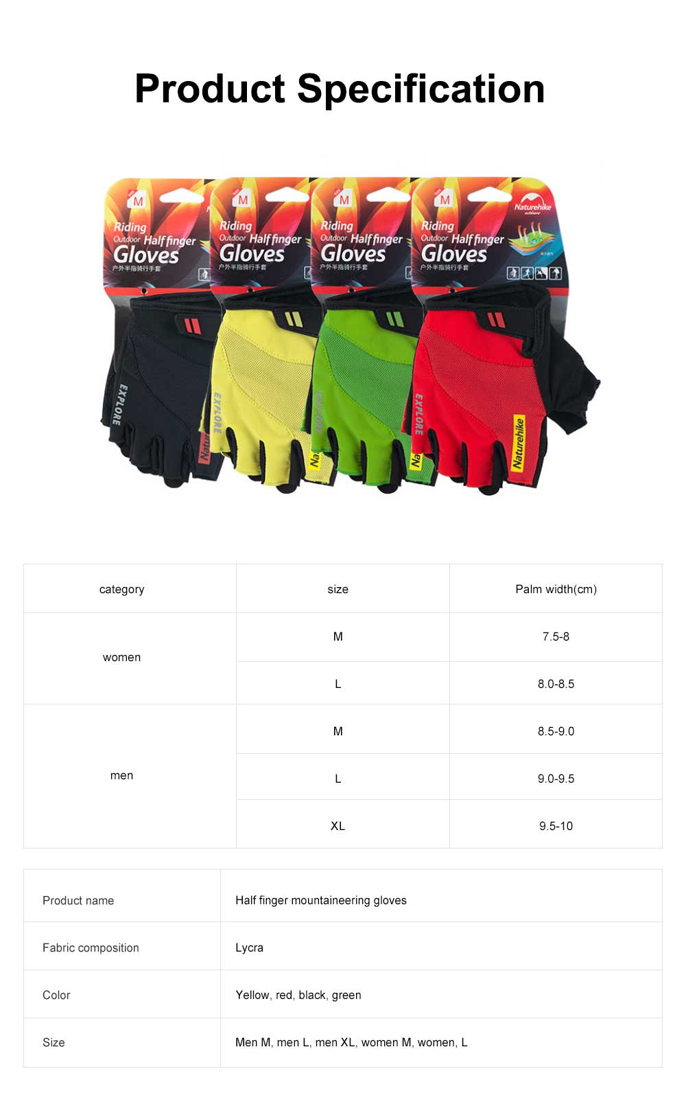 Summer Men Women Half Finger Cycling Sports Gloves Functional Non-slip Wear Resistant Mountaineering Anti-slip Fitness Gloves 7