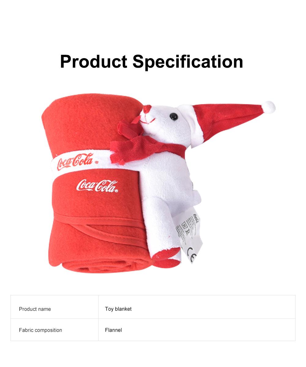2 in 1 Blanket Christmas Santa Hat Doll Flannel Baby Blankets Fleece Blankets Children's Cartoon Thick Plush Toy 6