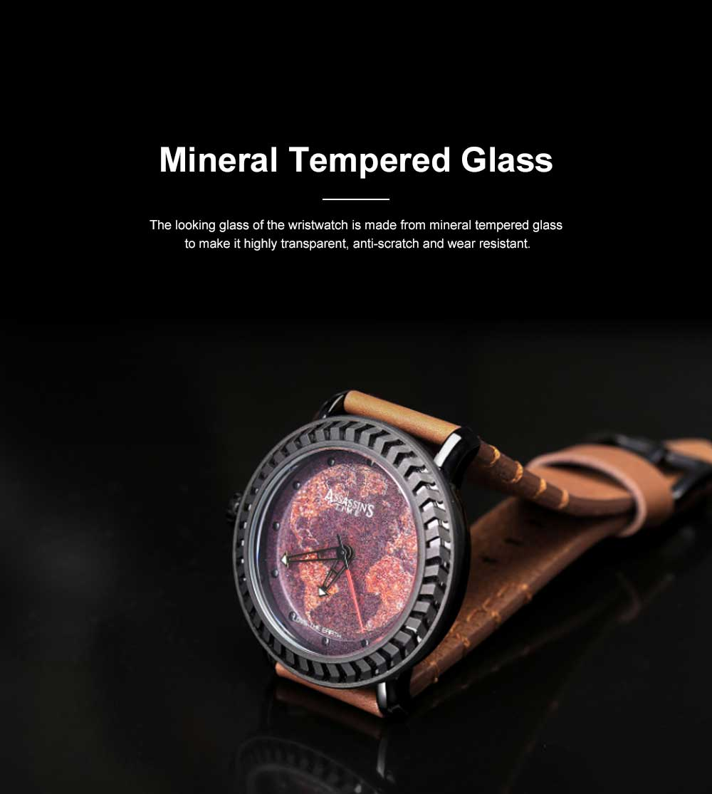 Casual Genuine Leather Unisex Wristwatch with Japan-imported Quartz Movement Waterproof Alloy Made Watchcase Men's Wrist Watch 1