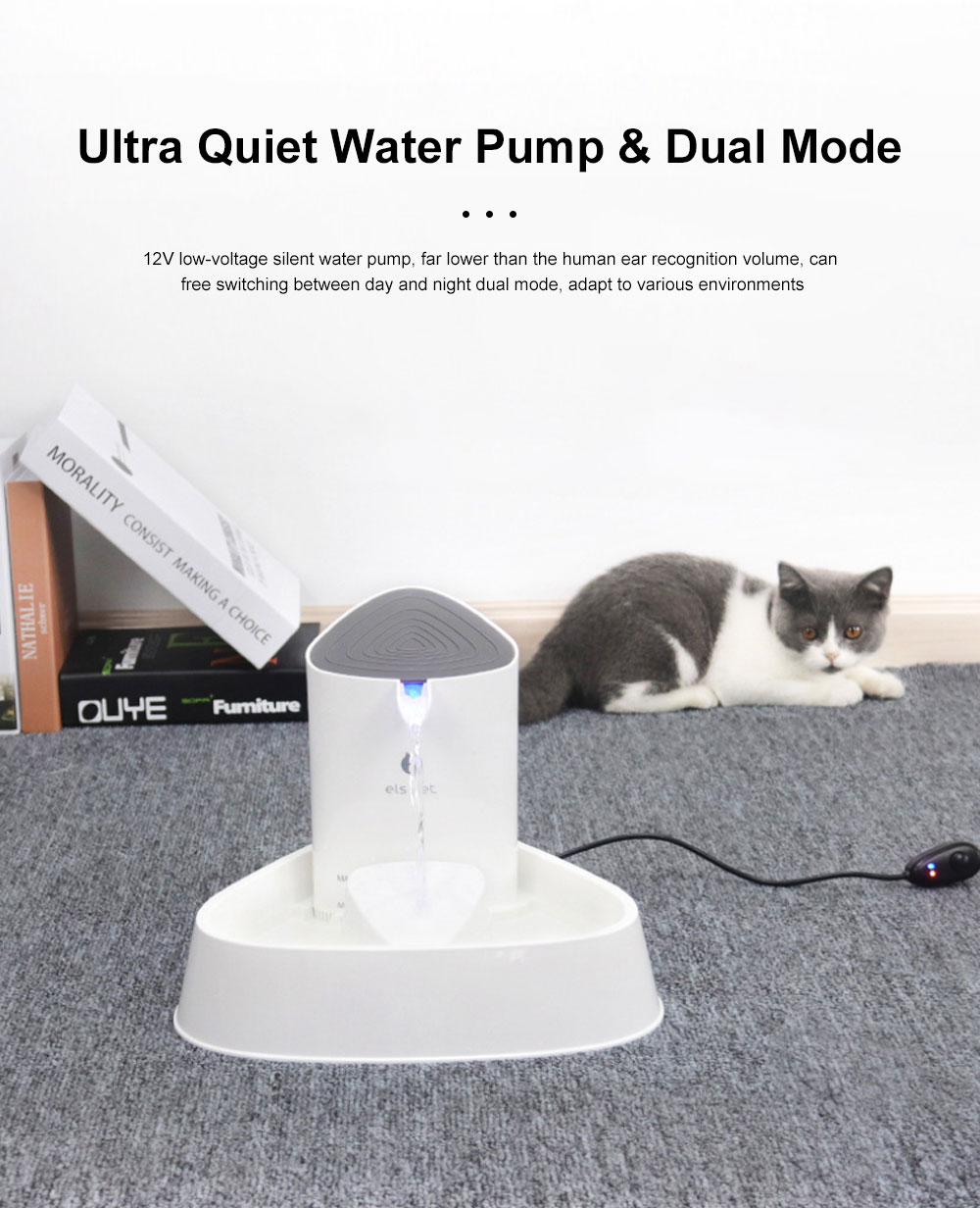 1.8L Fashion Generous Cat Dog Electric Drinker Loop Silent Water Dispenser Mute Four Filter Pet Smart Shell Drinker 1