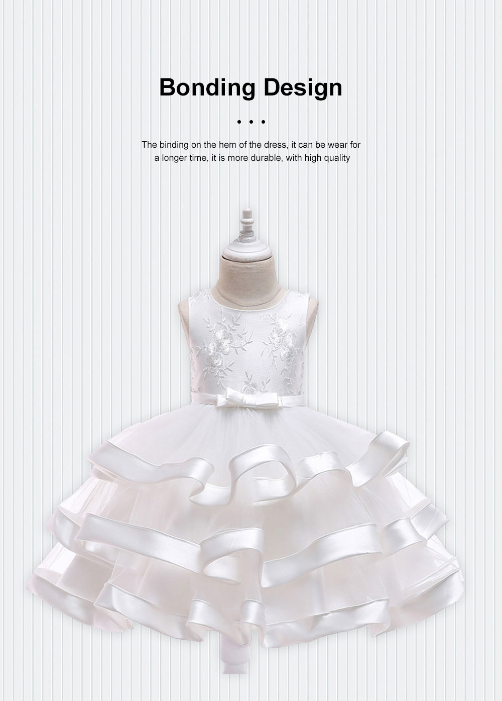 Female Flower Skirts Kids Girls Flower Wedding Dress, Multi-layer Mesh Gauze skirt, Multi-layered Show Dress Party Suit 1
