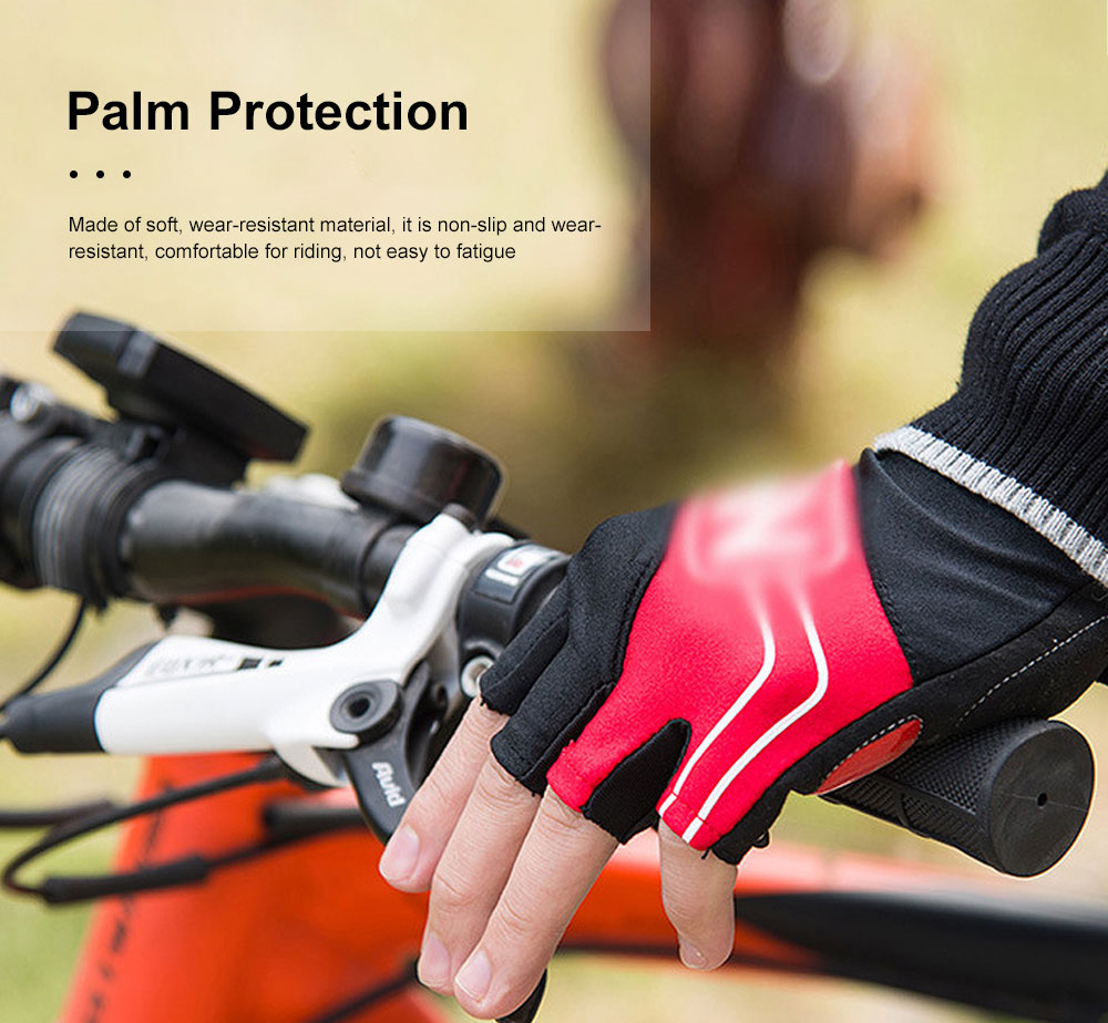 Outdoor Sport Racing Shock-proof Mountain Bike Cycling Gloves for Women Men Half Finger Breathable Bike Riding Anti-slip Cycle Bicycle Gloves 3