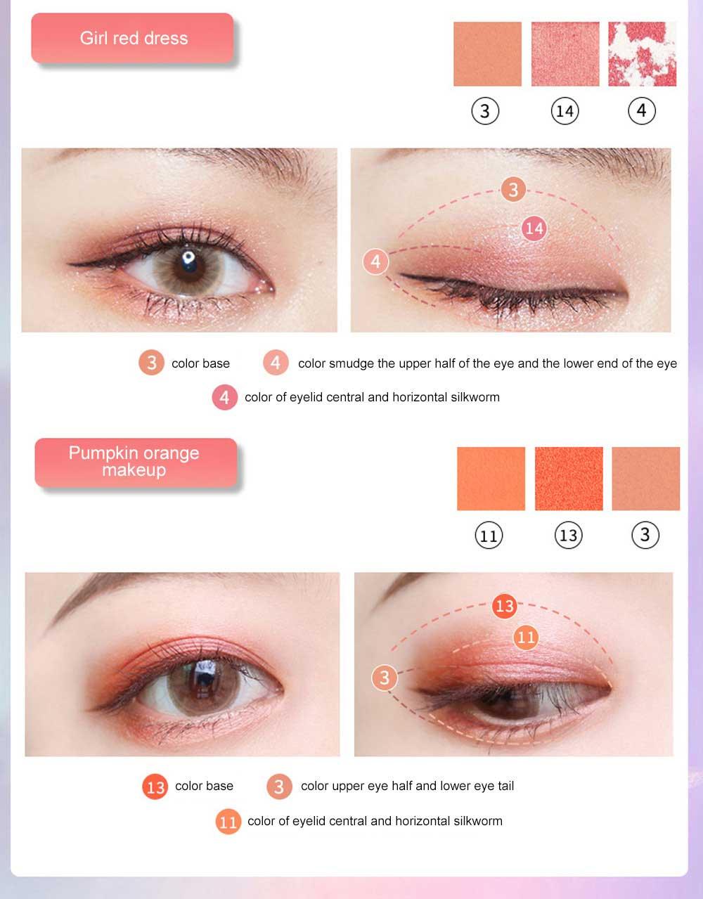 Cosmetics Makeup 15 Color Glitter Eyeshadow Waterproof Easy Clean Palette Eye Shadow Make Up Palettes 7