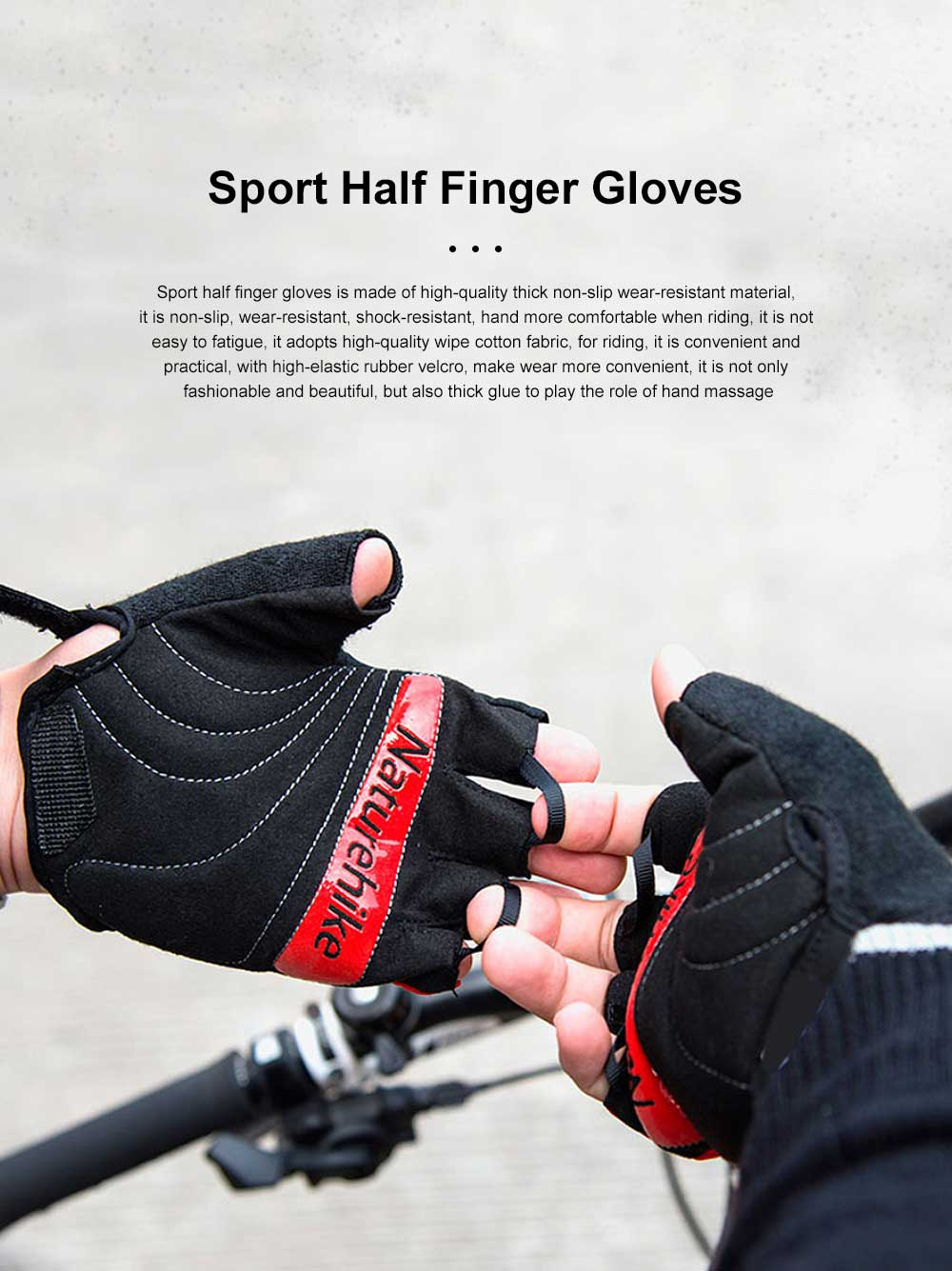 Outdoor Sport Racing Shock-proof Mountain Bike Cycling Gloves for Women Men Half Finger Breathable Bike Riding Anti-slip Cycle Bicycle Gloves 0
