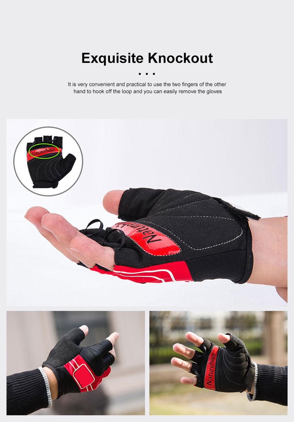 Outdoor Sport Racing Shock-proof Mountain Bike Cycling Gloves for Women Men Half Finger Breathable Bike Riding Anti-slip Cycle Bicycle Gloves 4