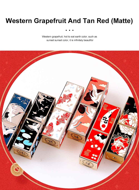 Chinese Palace Classic Style Non-stick Matte Makeup Lip Gloss Waterproof Long Lasting Private Label Lipstick Box Sets 3