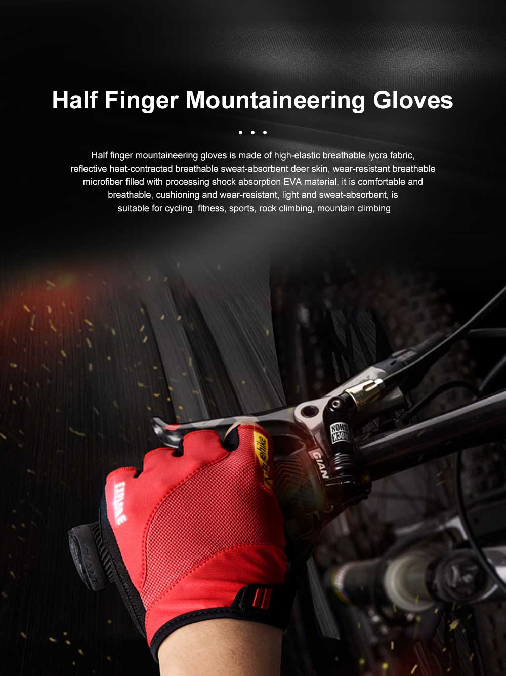 Summer Men Women Half Finger Cycling Sports Gloves Functional Non-slip Wear Resistant Mountaineering Anti-slip Fitness Gloves 0