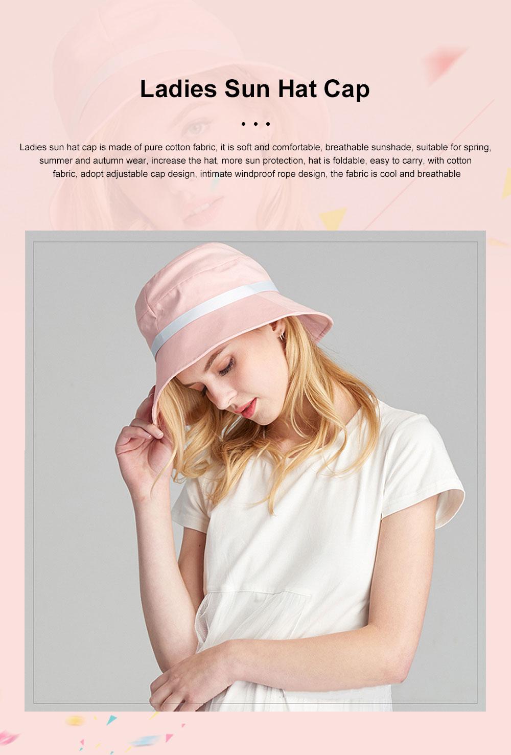 Ladies Sun Hat Cap Female Summer Sunscreen Anti-UV Foldable Outdoor Visor For Women Traveling 0