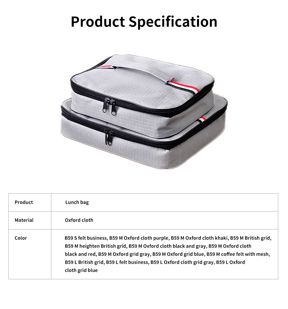 Canvas Lunch Bag Stainless Steel Plastic Heat Preservation Compartments Large Middle Small Size Lunch Box Bag for Student 6