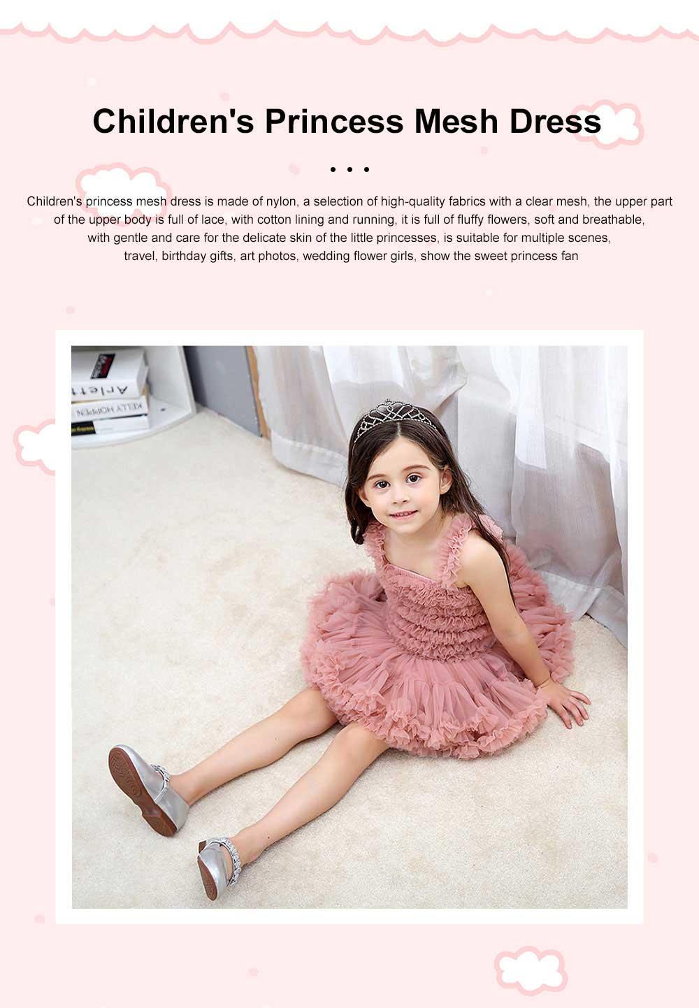 Delicate Gorgeous Girls Tutu Dress Children's Dresses Tutu Princess Mesh Skirt Kids Mini Dress 0