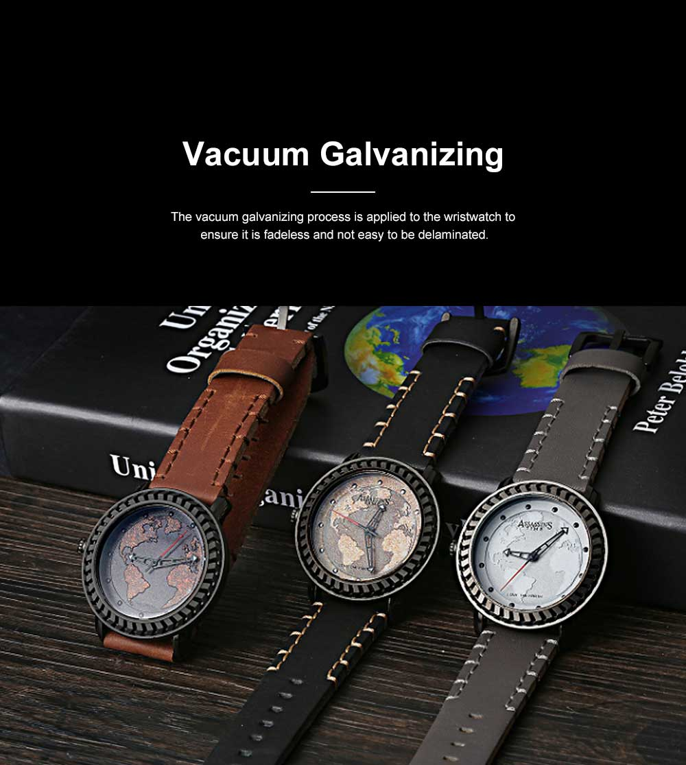 Casual Genuine Leather Unisex Wristwatch with Japan-imported Quartz Movement Waterproof Alloy Made Watchcase Men's Wrist Watch 7