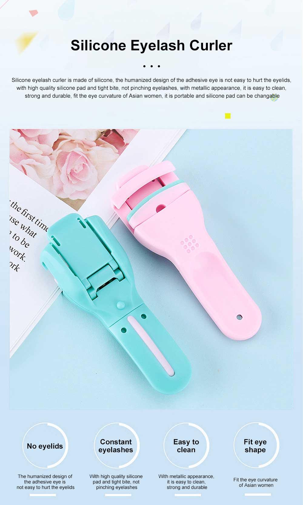 Silicone Eyelash Curler False Eyelash Extension Applicator Tool, Wholesale Portable Lightweight Bling Eyelash Curler 0