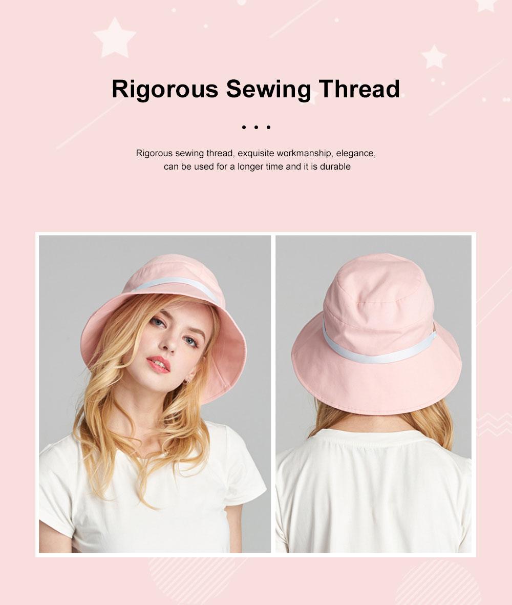 Ladies Sun Hat Cap Female Summer Sunscreen Anti-UV Foldable Outdoor Visor For Women Traveling 2