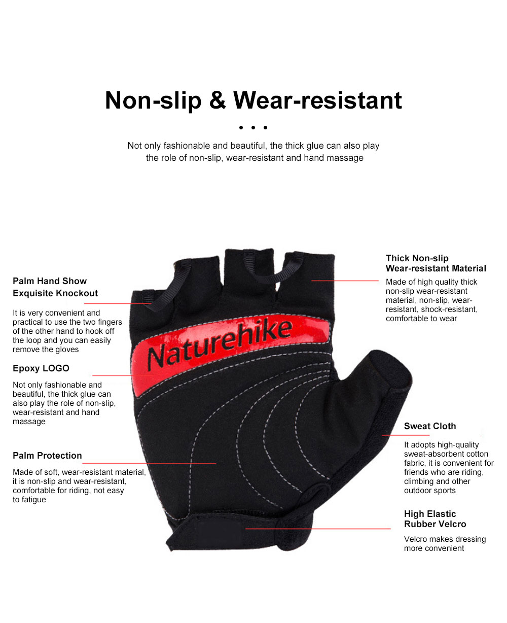 Outdoor Sport Racing Shock-proof Mountain Bike Cycling Gloves for Women Men Half Finger Breathable Bike Riding Anti-slip Cycle Bicycle Gloves 5