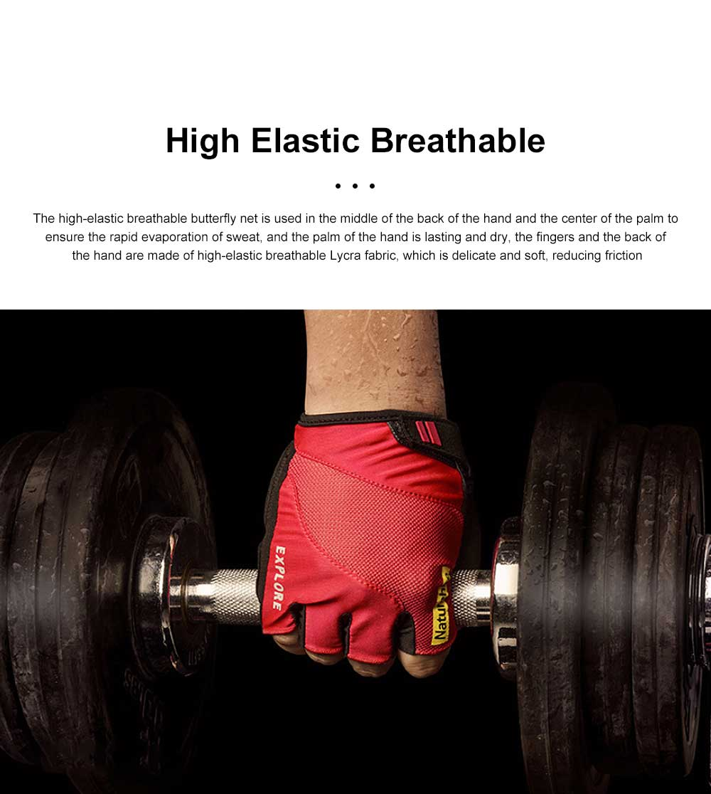Summer Men Women Half Finger Cycling Sports Gloves Functional Non-slip Wear Resistant Mountaineering Anti-slip Fitness Gloves 4