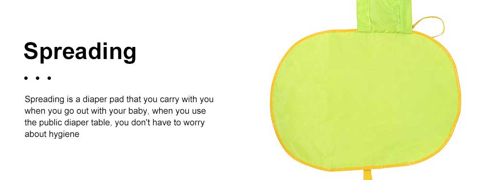 Portable Home Travel Outside Changer Foldable Waterproof Mat Baby Diaper Changing Insulation Pad With Head Cushion Pockets 4