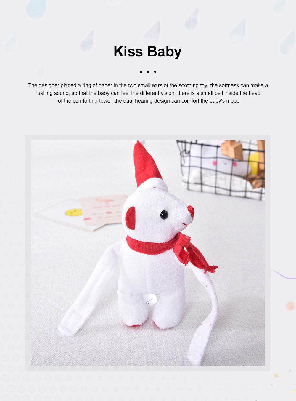 2 in 1 Blanket Christmas Santa Hat Doll Flannel Baby Blankets Fleece Blankets Children's Cartoon Thick Plush Toy 3