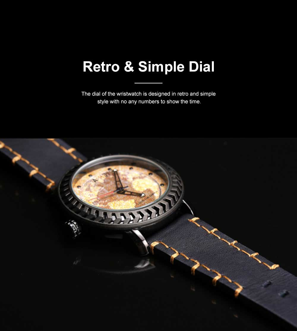 Casual Genuine Leather Unisex Wristwatch with Japan-imported Quartz Movement Waterproof Alloy Made Watchcase Men's Wrist Watch 3