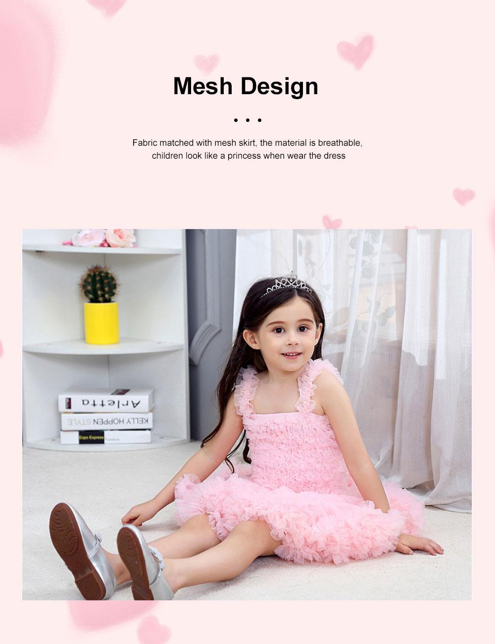 Delicate Gorgeous Girls Tutu Dress Children's Dresses Tutu Princess Mesh Skirt Kids Mini Dress 2