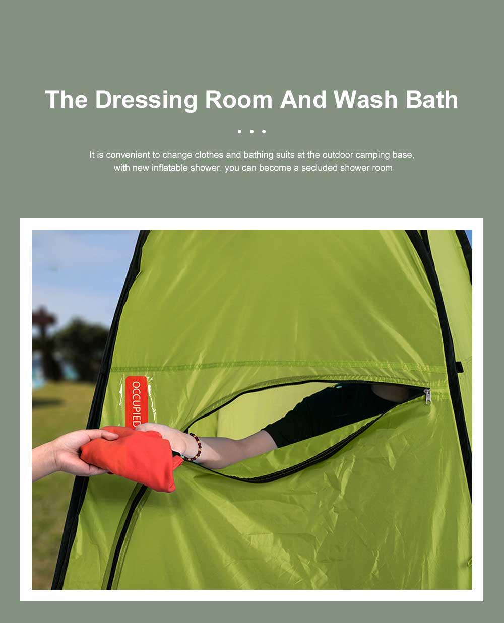 Outdoor Toilet Shower Bath Dressing Tent Beach Douche Room Restroom Portable Private Travel Waterproof Moveable Camping Tent 5